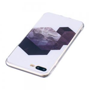 TPU Soft Case for iPhone 7 Plus / 8 Plus Geometric Marble Style Back Cover -