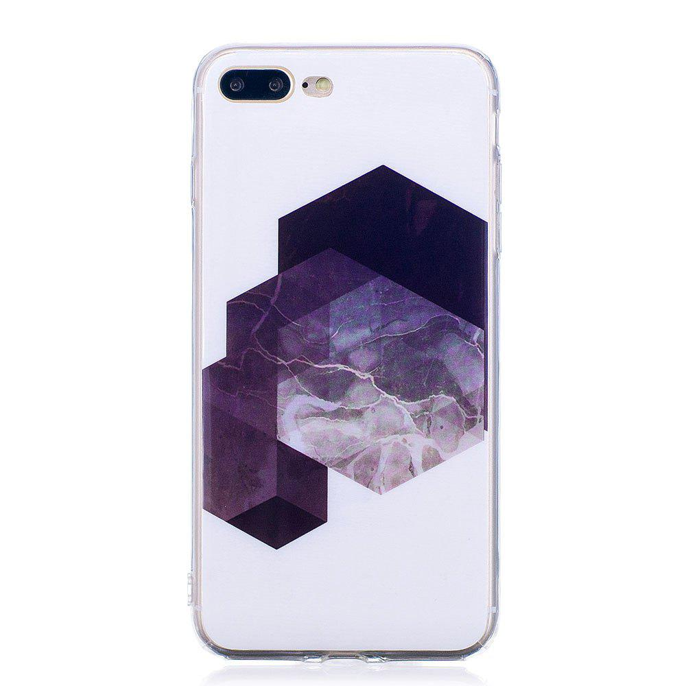 Chic TPU Soft Case for iPhone 7 Plus / 8 Plus Geometric Marble Style Back Cover