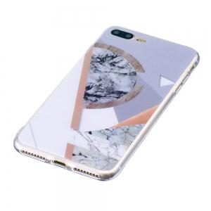 TPU Soft Case for iPhone 7 Plus / 8 Plus Joining Marble Style Back Cover -