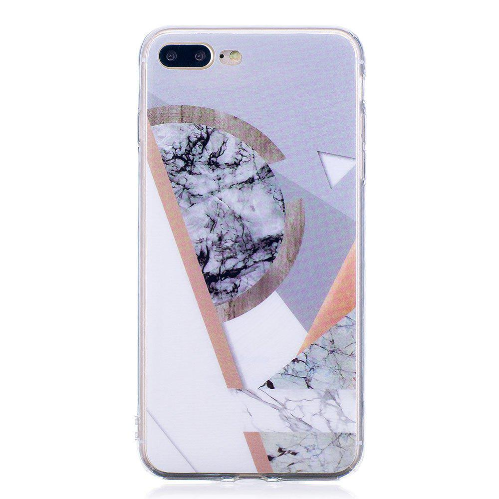 Affordable TPU Soft Case for iPhone 7 Plus / 8 Plus Joining Marble Style Back Cover