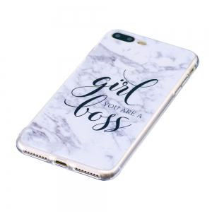 TPU Soft Case for iPhone 7 Plus / 8 Plus Marble Style Back Cover -