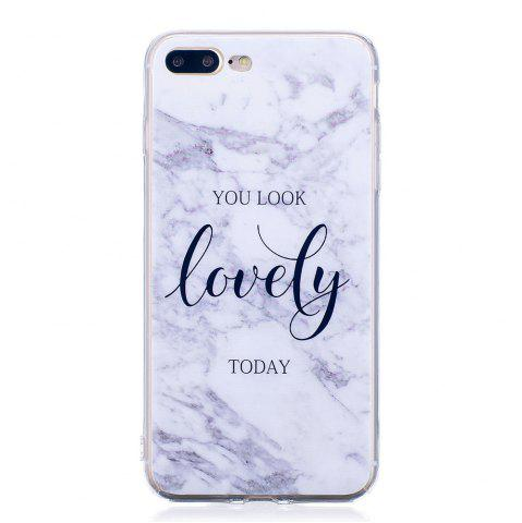 Trendy TPU Soft Case for iPhone 7 Plus / 8 Plus Lovely You Marble Style Back Cover