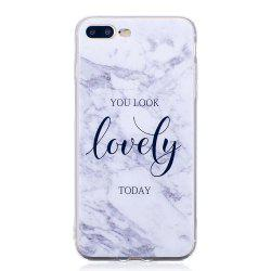 TPU Мягкий чехол для iPhone 7 Plus / 8 Plus Lovely You Marble Style Back Cover -