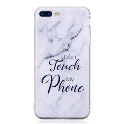 TPU Soft Case for iPhone 7 Plus / 8 Plus My Phone Marble Style Back Cover -