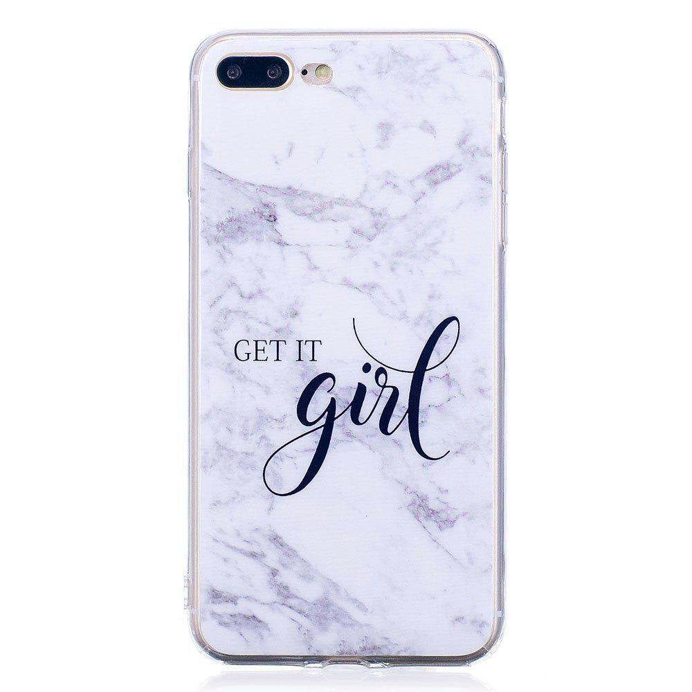 Latest TPU Soft Case for iPhone 7 Plus / 8 Plus Girl Marble Style Back Cover