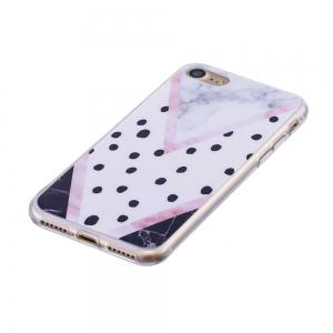 TPU Soft Case for iPhone 7 / 8 Black Spots Marble Style Back Cover -