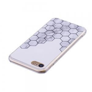 TPU Soft Case for iPhone 7 / 8 Cubic Marble Style Back Cover -
