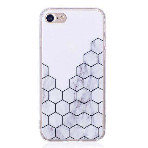 Discount TPU Soft Case for iPhone 7 / 8 Cubic Marble Style Back Cover