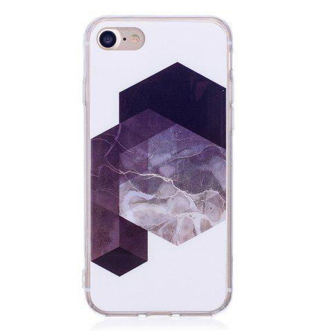 Cheap TPU Soft Case for iPhone 7 / 8 Geometric Marble Style Back Cover