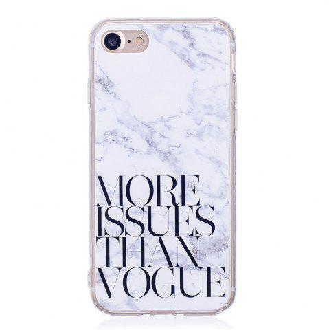 TPU Мягкий чехол для iPhone 7/8 Letter Marble Style Back Cover