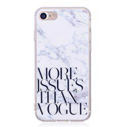 TPU Soft Case for iPhone 7 / 8 Letter Marble Style Back Cover -