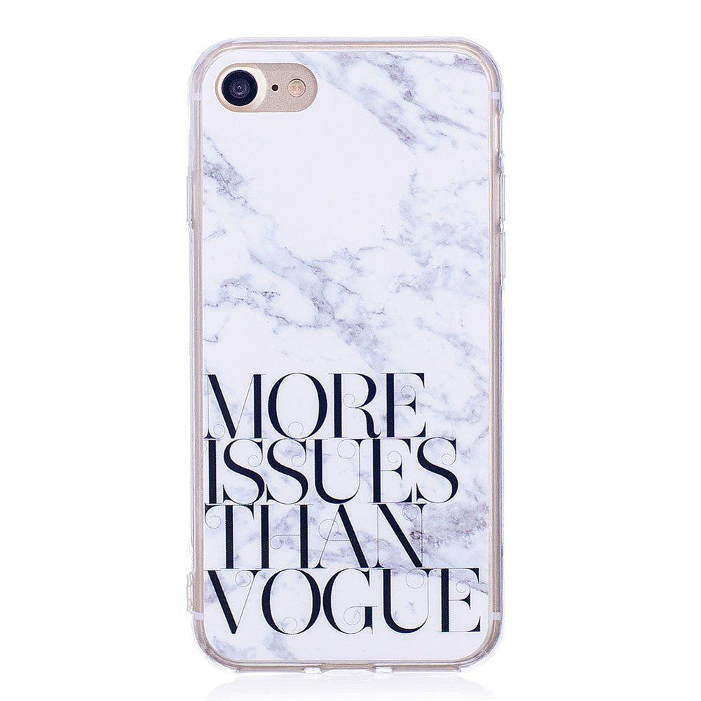 Fashion TPU Soft Case for iPhone 7 / 8 Letter Marble Style Back Cover
