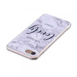 TPU Soft Case for iPhone 7 / 8 Lovely You Marble Style Back Cover -