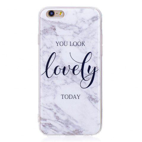 TPU Мягкий чехол для iPhone 6 / 6s Lovely You Marble Style Back Cover