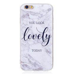 TPU Мягкий чехол для iPhone 6 / 6s Lovely You Marble Style Back Cover -