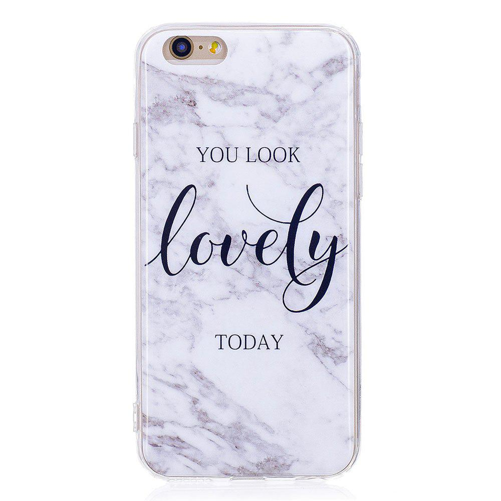 Fashion TPU Soft Case for iPhone 6 / 6s Lovely You Marble Style Back Cover