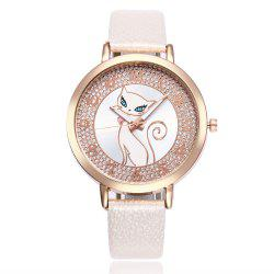 Khorasan Cartoon Cat The Tree Belt Classic Digital Women'S Watch -