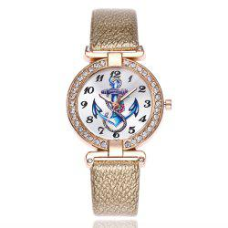 Khorasan Ship Anchor Classic Digital Leisure Belt Quartz Watch -