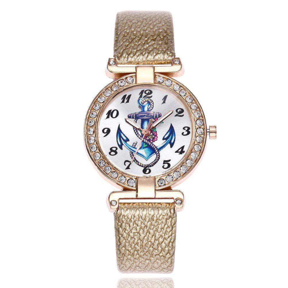 Buy Khorasan Ship Anchor Classic Digital Leisure Belt Quartz Watch