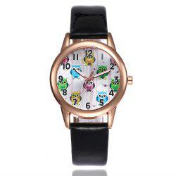 Khorasan Classic Digital Fashion Lady Owl Belt Watch -
