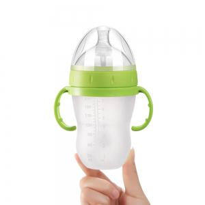 Anti-Choking Milk Baby Baby Simulation Silicone Bottle Straw Handle Child Bottle -