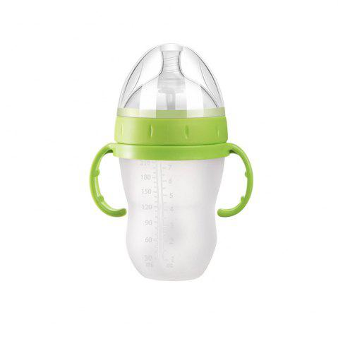 Fancy Anti-Choking Milk Baby Baby Simulation Silicone Bottle Straw Handle Child Bottle