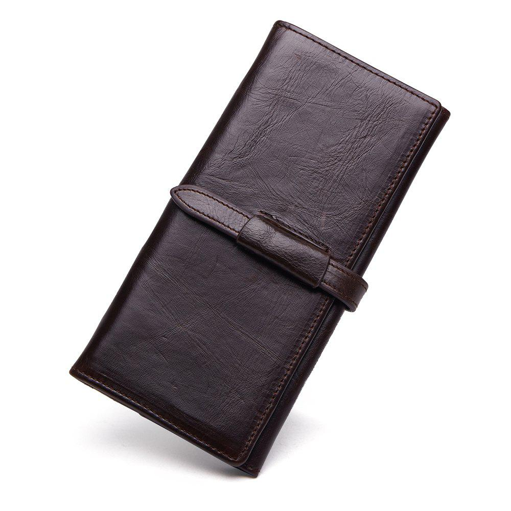 Cheap Leather Men's Long Wallet