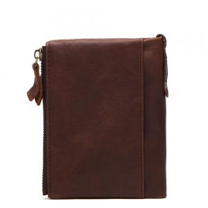 Anti-Theft Brush Leather Short Men's Wallet -