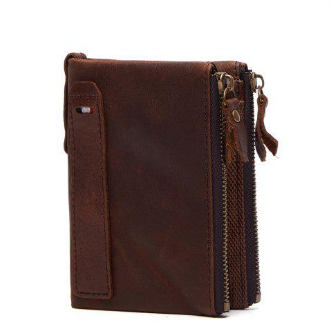 Cheap Anti-Theft Brush Leather Short Men's Wallet