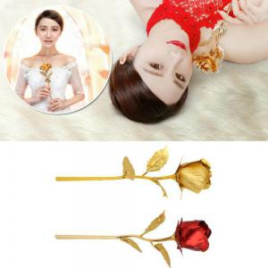 24K Gold Foil Love Photo Frame  Rose  Lovely Decoration Valentine Gifts -