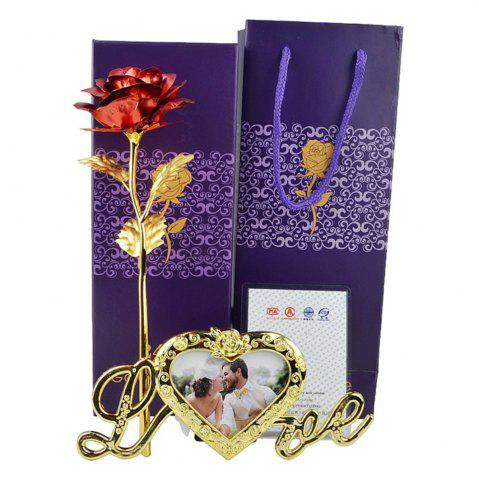 Fancy 24K Gold Foil Love Photo Frame  Rose  Lovely Decoration Valentine Gifts