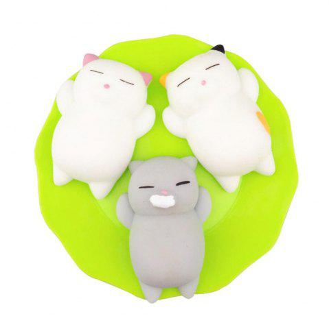 Buy Kawaii Slow Rising Soft Squishy Squeeze Cute Mini Cat Stress Reliever Decompression Toy for Kids Fidget Gift 3PCS