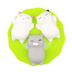 Kawaii Slow Rising Soft Squishy Squeeze Cute Mini Cat Stress Reliever Decompression Toy for Kids Fidget Gift 3PCS