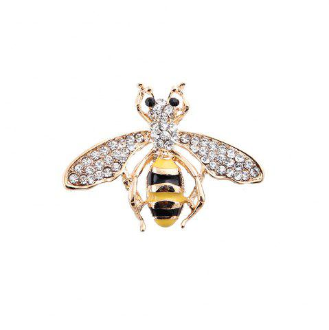 Trendy 10 Designs New Honeybee with Crystal Design Brooches Lovely Bee Insect Pins for Women Jewelry New Year Gift