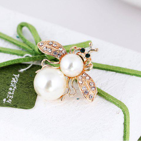 Fashion 10 Designs New Honeybee with Crystal Design Brooches Lovely Bee Insect Pins for Women Jewelry New Year Gift