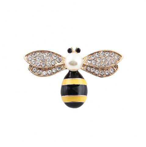 Store 10 Designs New Honeybee with Crystal Design Brooches Lovely Bee Insect Pins for Women Jewelry New Year Gift