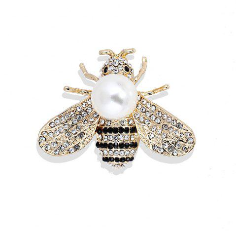 Shop 10 Designs New Honeybee with Crystal Design Brooches Lovely Bee Insect Pins for Women Jewelry New Year Gift