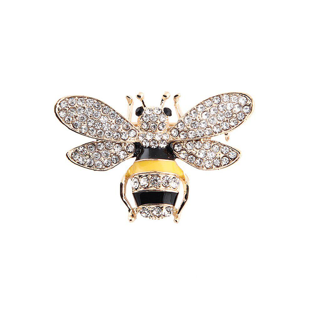 Unique 10 Designs New Honeybee with Crystal Design Brooches Lovely Bee Insect Pins for Women Jewelry New Year Gift