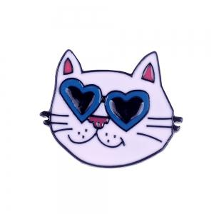 Fashion Cat Heart Toothpaste Enamel Clothing Woman Brooch Pincers Set for Woman As Gift Jewelry -