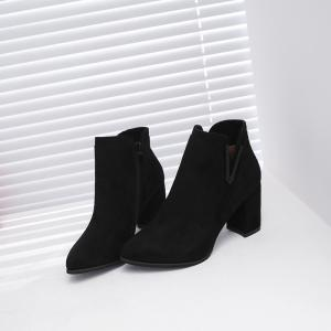Подвеска Suede All-Match Rough Heel Boots -