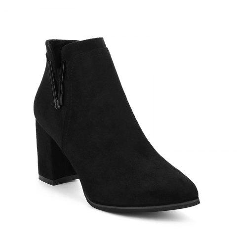 Подвеска Suede All-Match Rough Heel Boots