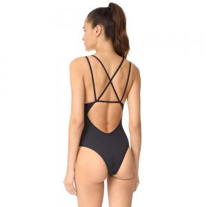 Conjoined Bikini Pure Color Corduroy Swimsuit -