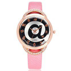 REEBONZ Fashion Lady Diamond Personality @ Dial quartz Watch -