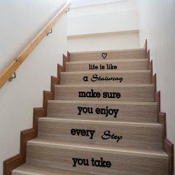 Quote Wall Sticker Staircase Decorative Decal -