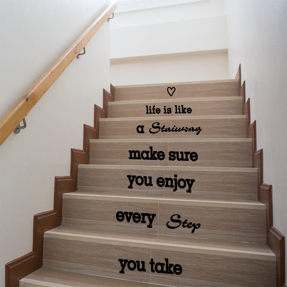 Latest Quote Wall Sticker Staircase Decorative Decal