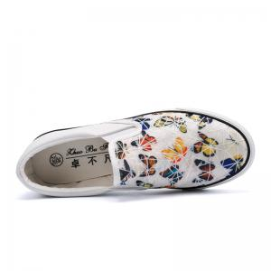 Women Colored Butterflies Pattern Leisure Shoes -