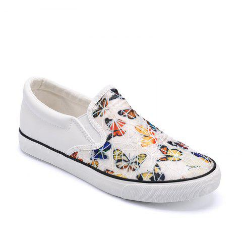 Trendy Women Colored Butterflies Pattern Leisure Shoes