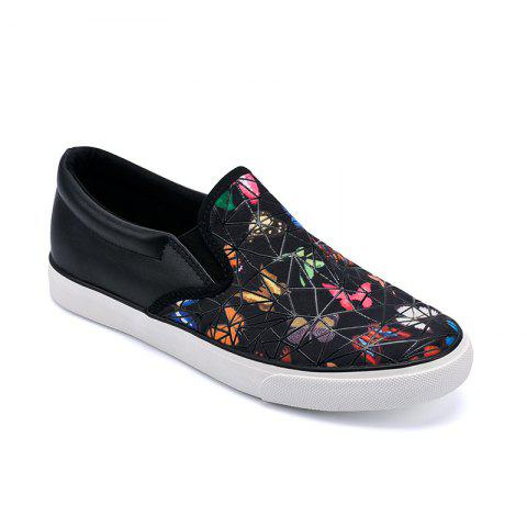 Shops Women Colored Butterflies Pattern Leisure Shoes