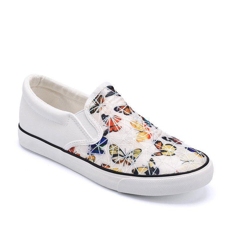 Discount Women Colored Butterflies Pattern Leisure Shoes