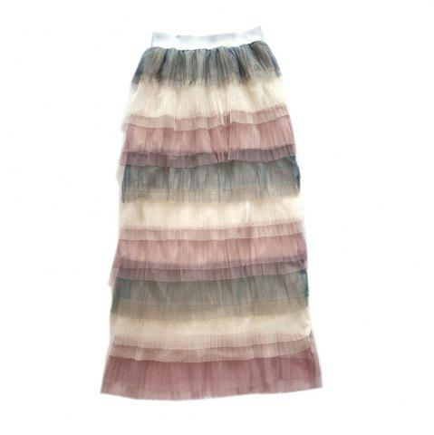 Fashion Rainbow Color Joker Cake Skirt